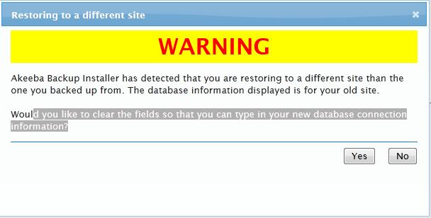 akeeba backup_installer_warning